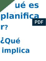Qué Es Planificar