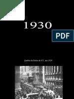 Moda e Comportamento na década de 1930