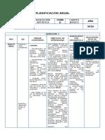 Planificación Anual- Artes 4º Básico