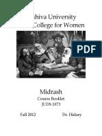 Midrash Course Reader 2012