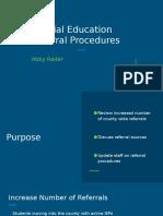 spec ed referral procedures