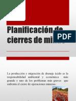 Planificación de Cierres de Minas