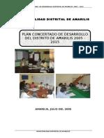 PLAN CONCERTADO DE DESARROLLO DEL DISTRITO DE AMARILIS-2005-2015