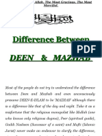 Difference Between Deen and Mazhab Ppt