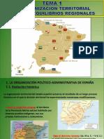 La organización territorial y los desequilibrios regionales