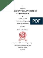 Sample TE Seminar Report