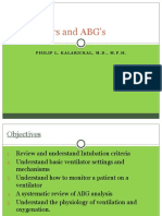 Ventilators and ABG's