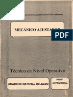 MECANICO AJUSTADOR N09 Limado de Material Delgado