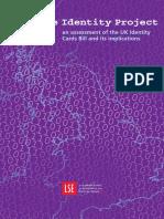 383. LSE; London School of Economics reports on Identity Cards