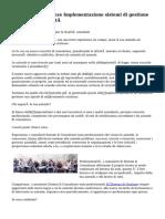 Sistemi & Consulenze Implementazione sistemi di gestione certificazioni qualità