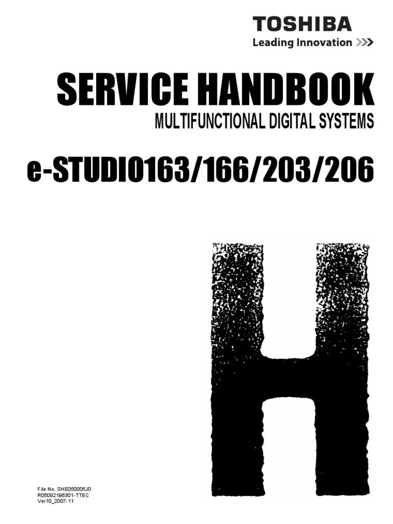 toshiba e studio 166 206 service manual repair guide