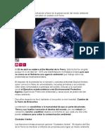Hace 44 años una movilización a favor de la preservación del medio ambiente alertaba a la humanidad sobre el cuidado a la Tierra.docx