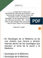 Sociología y Antropología Médica