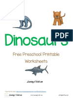 Free Preschool Printable Worksheets Dinosaurs