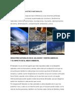 Desastres Naturale de El Salvador