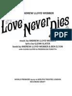Love Never Dies Libretto