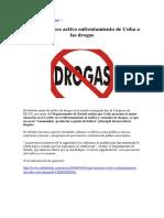 EEUU Reconoce Activo Enfrentamiento de Cuba a Las Drogas