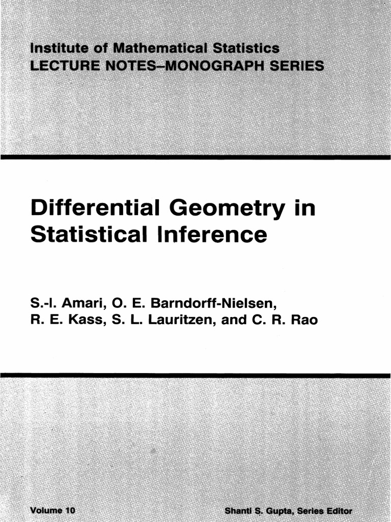 Differential Geometry in Statistical Inference | Vector Space | Manifold