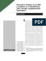 Geometría Analítica y Sintética