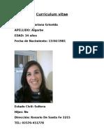 Curriculum Vitae Mariana