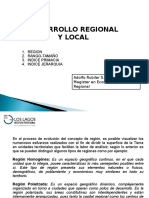 Desarrollo Regional y Local