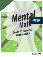 Mental Math Grade 10
