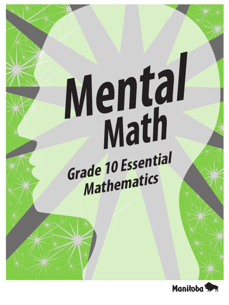 Mental Math Grade 10 | Division (Mathematics) | Mathematics