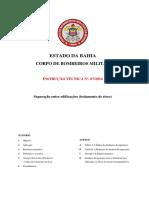 INSTRUÇÃO TÉCNICA Nº. 07-2016 - Separação Entre Edificações (Isolamento de Risco)