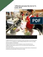 La Inflación Peruana Fue de 4