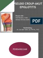 PSeudocroup akut, epiglotitis