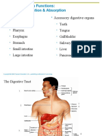 SCIT 1408 Applied Human Anatomy and Physiology II - Digestive System Chapter 23 A