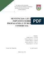 Analisis de La Sentencia Ley de Impuesto Sobre Publicidad y Propaganda