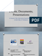 events documents presentations