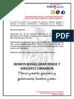 Benkos Bioho, Gran Heroe y Dirigente Cimarron