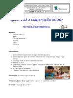 """Protocolo """"Composição do Ar"""""""