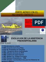 Transporte Aèreo en El Paciente Crìtico