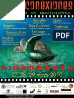 Cartel INTERCONEXIONES muestra de VIDEODANZA