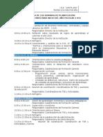 1. Hoja de Ruta 2016 -Agenda de La Semana de Planificación