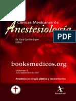 Anestesia en Cirugia Plastica y Reconstructiva