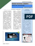 Boletín Nº1 Cultura UNA Lara Informa