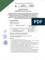 CONVOCATORIA CAS N° 020-2016-ACCESO PP091-PLAZAS DESIERTAS
