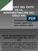Las Claves Del Éxito de La Administración Del Siclo Xxi