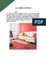 Colores y El Diseño Interior