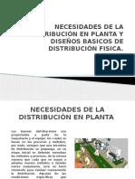 Necesidades de La Distribución en Planta y Diseños
