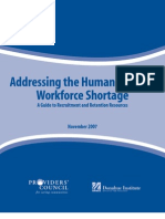 Addressing the Human Service Workforce Shortage - A Guide to Recruitment and Retention Resources