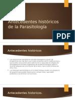 Introducción a la Parasitologia