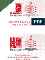 Decreto 1377 Y Ley 1712