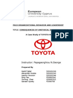 Toyota business ethics