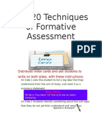 the 20 techniques of formative assessment