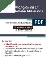 PlanificaciOndelIR2013.ppt